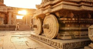 How did ancient architecture in India help to build temples?